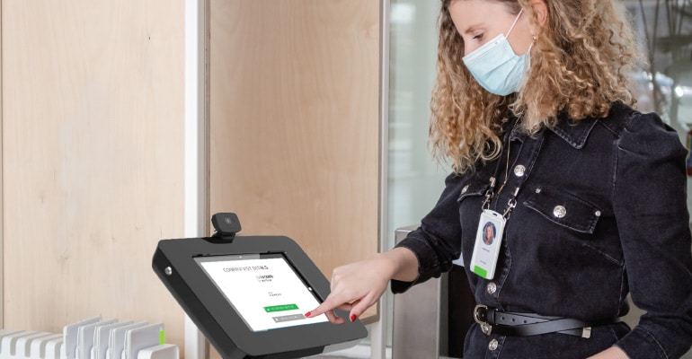 Choosing an Enterprise Visitor Management System (Contactless Lobby Visitor Kiosk)