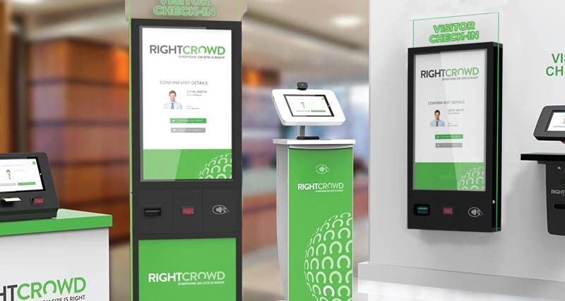 RightCrowd Visitor Kiosk