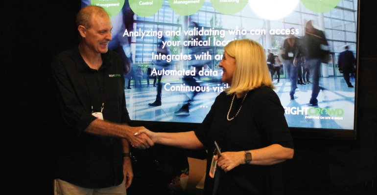RightCrowd - Peter Hill and MP Karen Andrews